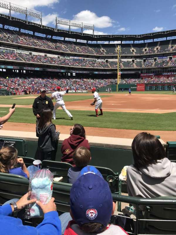 Globe Life Park in Arlington, section: 35, row: 2, seat: 5