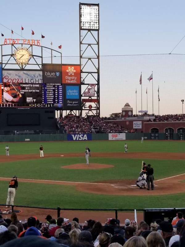 Oracle Park, section: 117, seat: 5