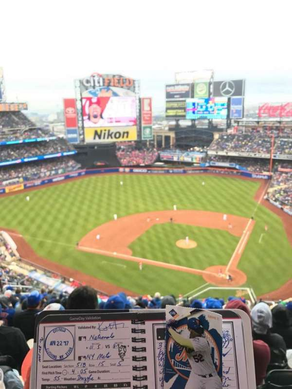 Citi Field, section: 515, row: 15, seat: 8