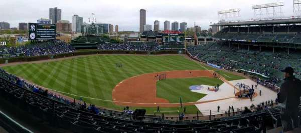 Wrigley Field, section: 411L, row: 1, seat: 10
