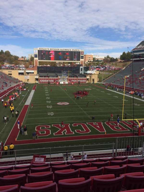 Razorback Stadium, section: 224, row: 12, seat: 01 and 02
