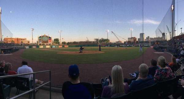 Dickey-Stephens Park, section: 109, row: D