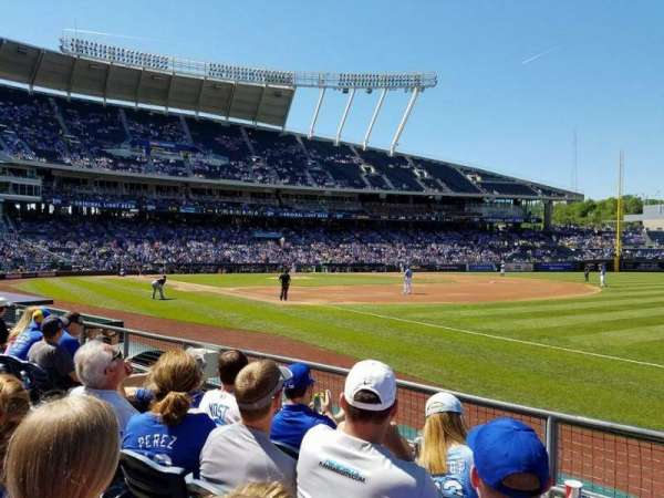Kauffman Stadium, section: 141, row: E, seat: 8