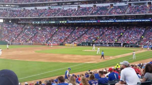 Globe Life Park in Arlington, section: 13, row: 20, seat: 9