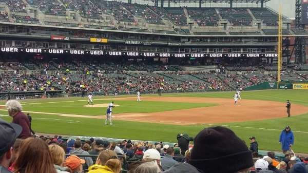 Comerica Park, section: 117, row: 27, seat: 14