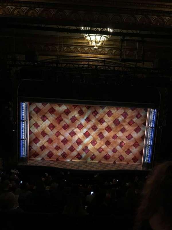 Brooks Atkinson Theatre, section: Rear Mezzanine LC, row: F, seat: 115