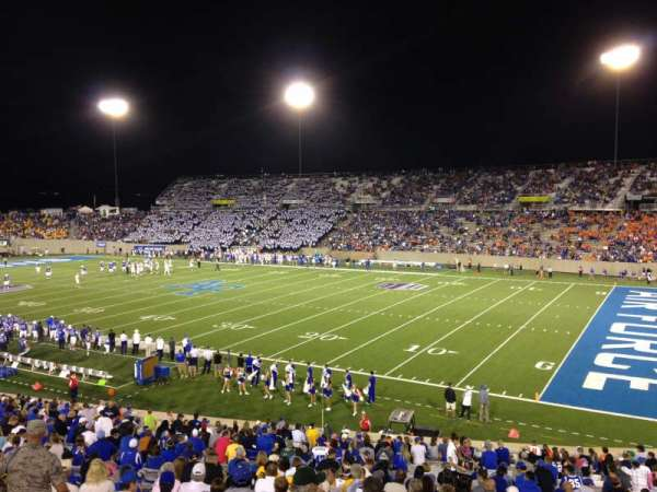Falcon Stadium, section: M4, row: A, seat: 25