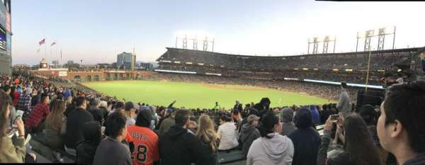 Oracle Park, section: 141, row: 28, seat: 6