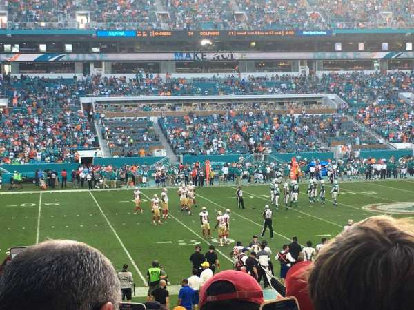 Hard Rock Stadium, section: 120, row: 22, seat: 18