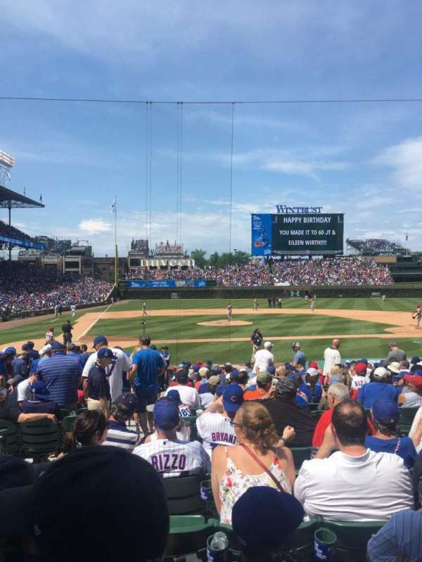 Wrigley Field, section: 122, row: 6, seat: 2