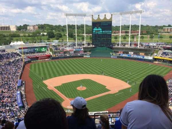Kauffman Stadium, section: 421, row: GG, seat: 23
