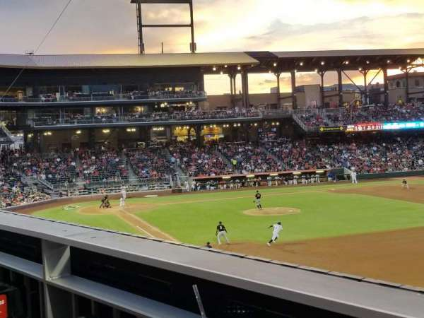 Southwest University Park, section: 202, row: A, seat: 6