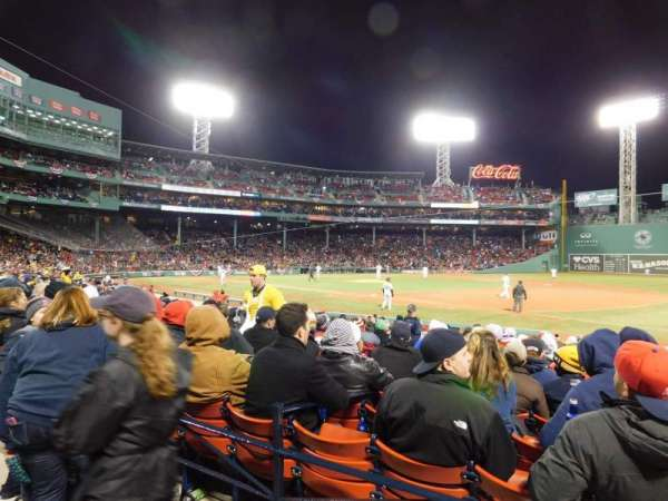Fenway Park, section: Loge Box 102, row: AA, seat: 10
