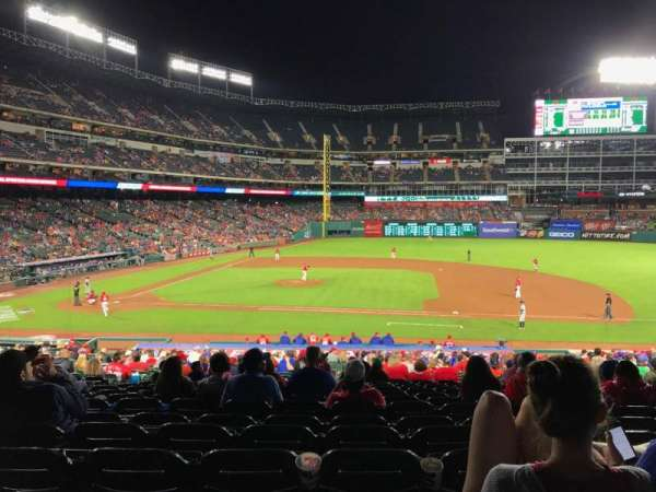 Globe Life Park in Arlington, section: 33, row: 30, seat: 7