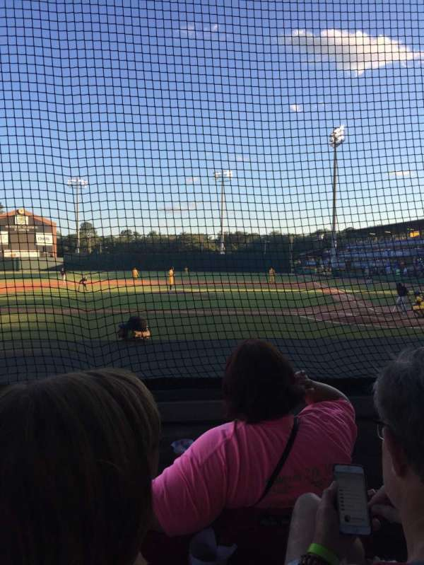 Grayson stadium, section: C, row: 3, seat: 19