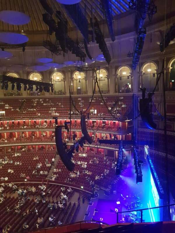 Royal Albert Hall, section: Circle Y, row: 7, seat: 276
