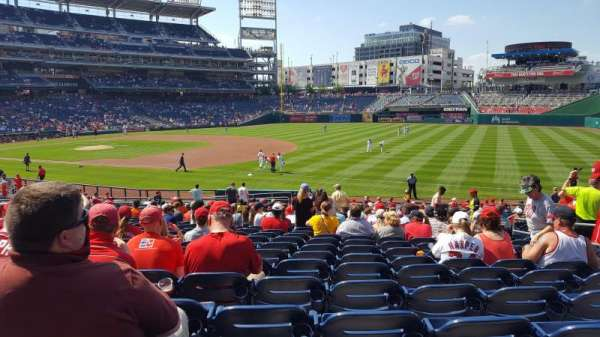 Nationals Park, section: 133, row: GG, seat: 7