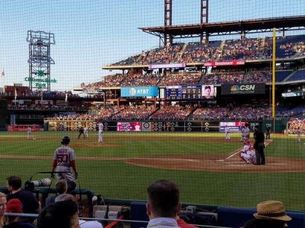 Citizens Bank Park, section: B, row: 8, seat: 8