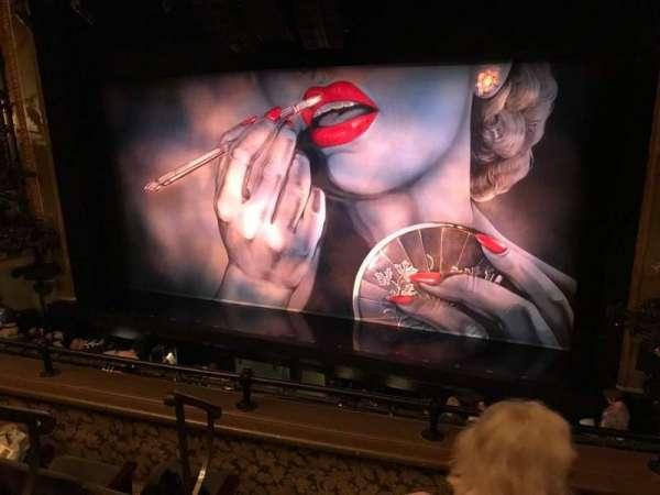 Nederlander Theatre, section: Mezzanine L, row: D, seat: 4