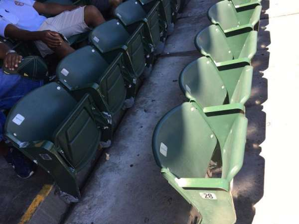 Oakland Coliseum, section: 114, row: 29, seat: 1