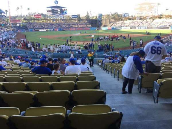 Dodger Stadium, section: 2fd, row: W, seat: 13
