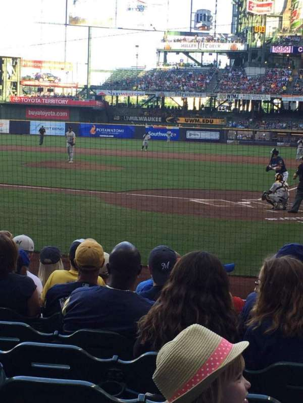 Miller Park, section: 119, row: 9, seat: 9