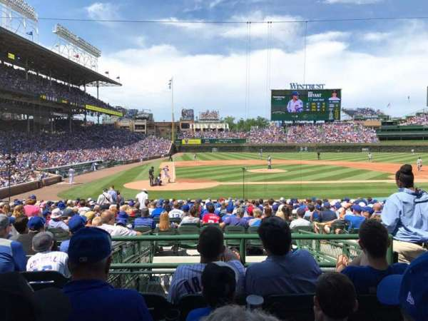 Wrigley Field, section: 121, row: 8, seat: 13