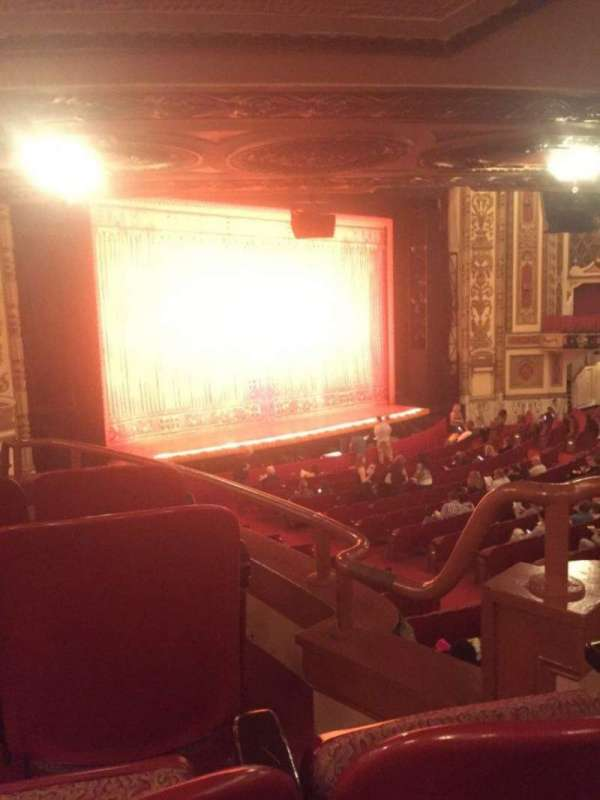 Cadillac Palace Theater, section: Dress Circle FL, row: JJ, seat: 5