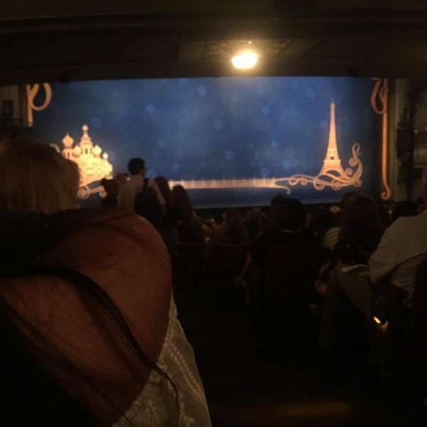 Broadhurst Theatre, section: Orchestra L, row: s, seat: 1