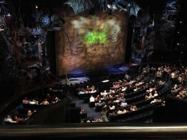 Gershwin Theatre, section: Front Mezzanine L, row: EE, seat: 3