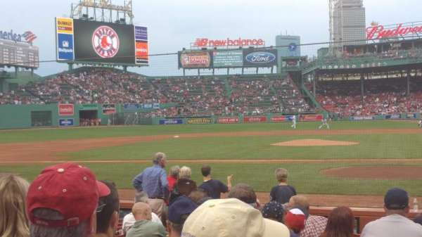 Fenway Park, section: Field Box 55, row: K, seat: 2