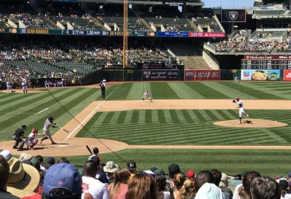 Oakland Coliseum, section: 114, row: 21, seat: 8