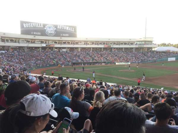 Raley Field, section: 103, row: 28, seat: 1