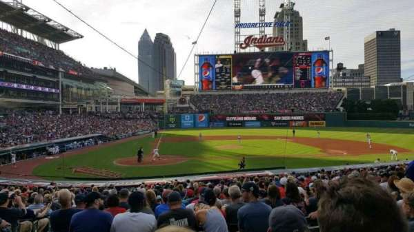 Progressive Field, section: 149, row: DD, seat: 14