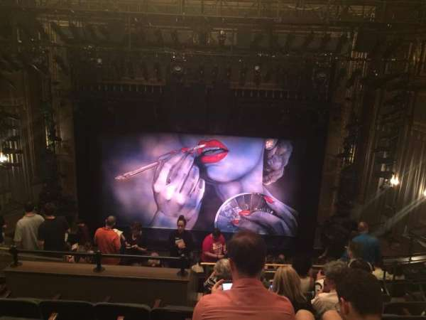 Nederlander Theatre, section: Mezzanine C, row: N, seat: 105