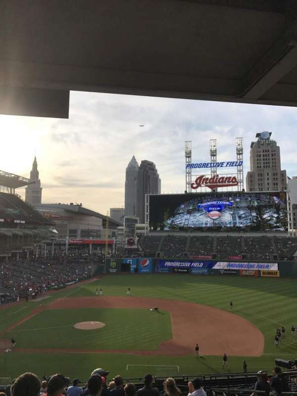 Progressive Field, section: 344, row: R, seat: 5
