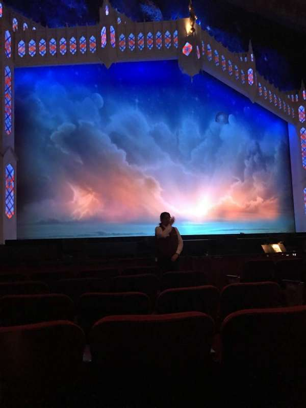 Hollywood Pantages Theatre, section: ORCHLC, row: F, seat: 305