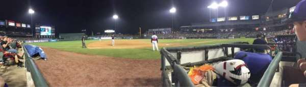 Dell Diamond, section: 114, row: 1, seat: 5