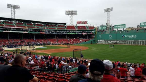 Fenway Park, section: Right Field Box 97, row: Uu, seat: 5