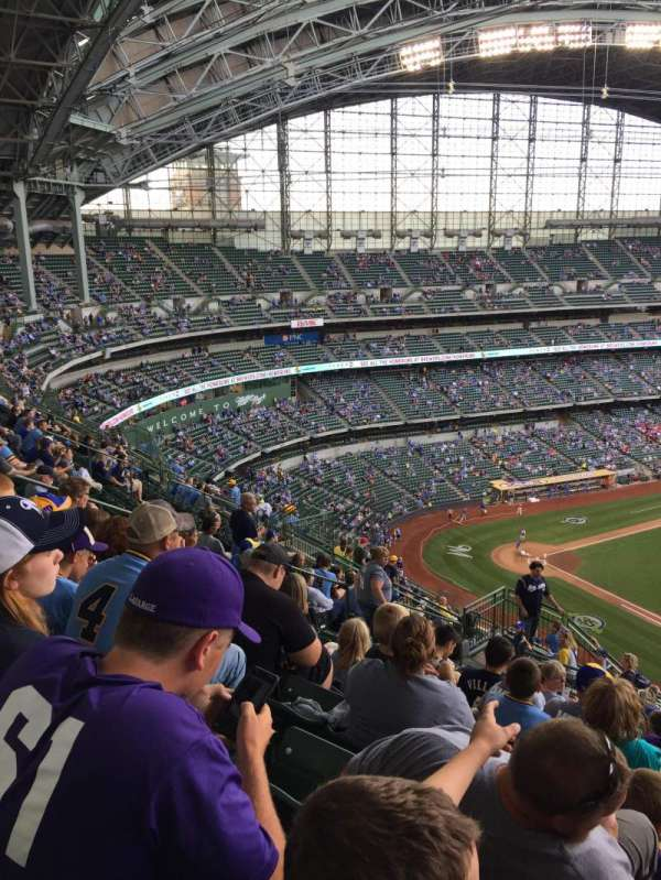 American Family Field, section: 414, row: 15, seat: 6