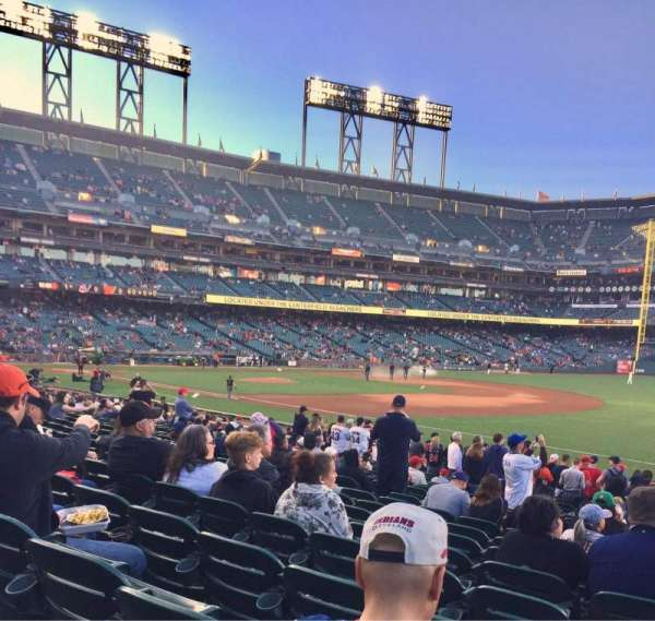 Oracle Park, section: 103, row: 21, seat: 11-12