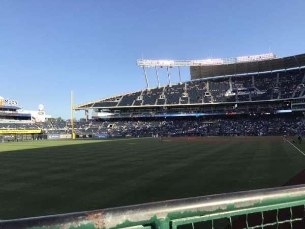 Kauffman Stadium, section: 108, row: A, seat: 4