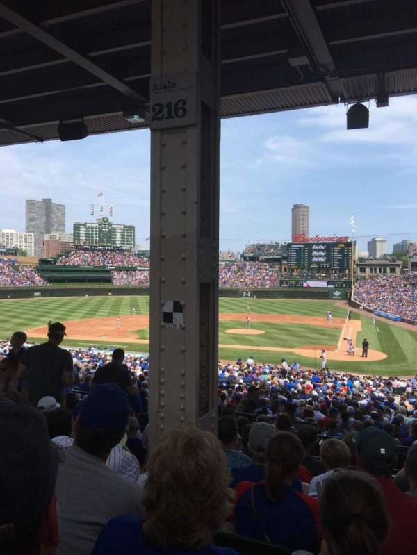 Wrigley Field, section: 216, row: 10, seat: 6
