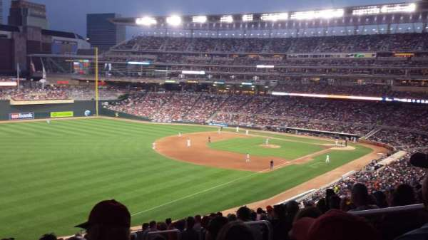 Target Field, section: V, row: 14, seat: 4