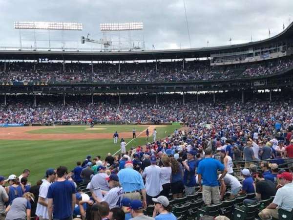 Wrigley Field, section: 101, row: 11, seat: 8