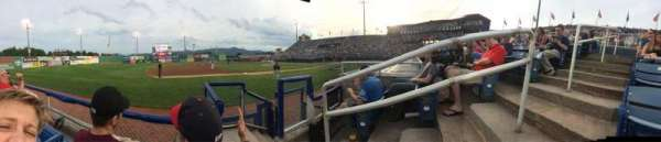 Salem Memorial Baseball Stadium, section: 214, row: B, seat: 2