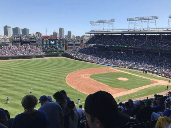 Wrigley Field, section: 306L, row: 10, seat: 22