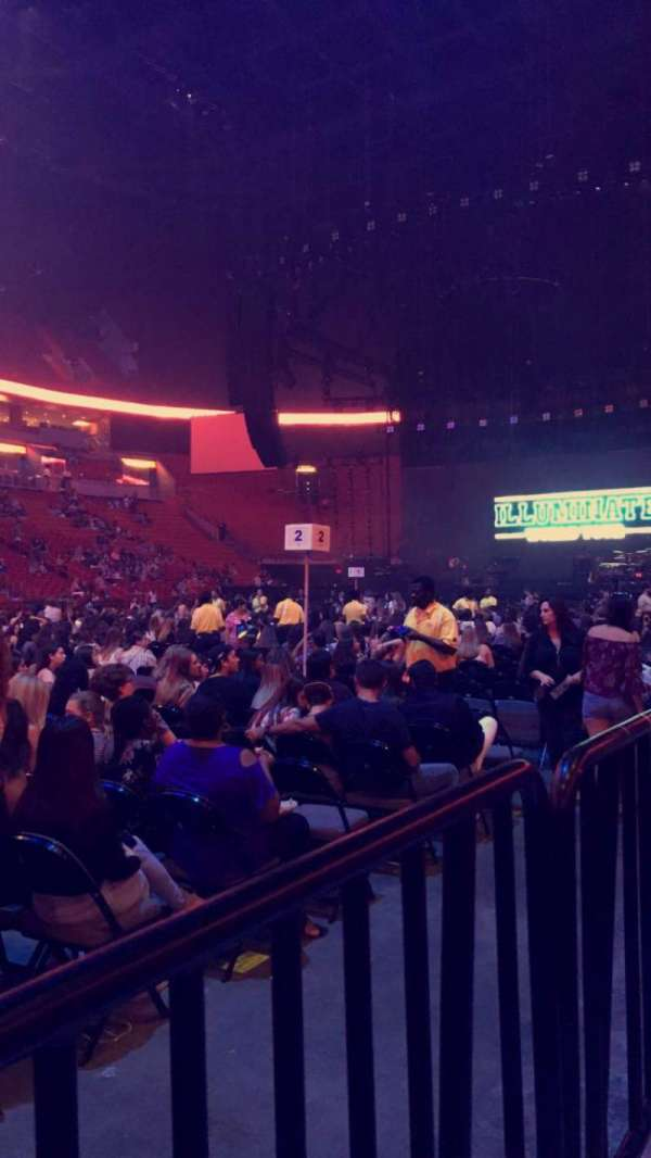 American Airlines Arena, section: 108, row: 4, seat: 14