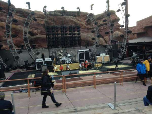 Red Rocks Amphitheatre, row: 5, seat: 55