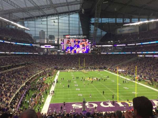 U.S. Bank Stadium, section: 121, row: 40, seat: 13